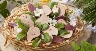 Nid au foie gras et magret en pâte à gaufre