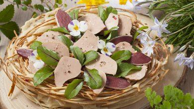 Photo de Nid au foie gras et magret en pâte à gaufre