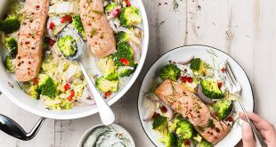 Pavés de saumon aux légumes