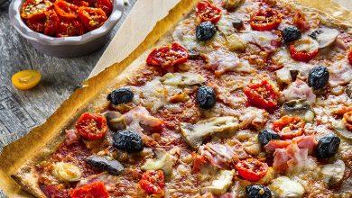 Photo de Pizza tomates séchées mozzarella & jambon cru