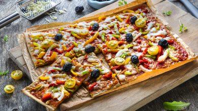 Photo de Pizza végétale poivrons & tomates