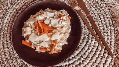 Photo de Risotto bio poireaux, carottes et parmesan