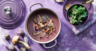 Soupe de pommes de terre violettes