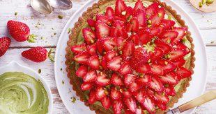 Tarte fraise-pistache