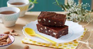Brownie sans beurre aux amandes