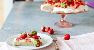 Gâteau fraises & chantilly sans gluten