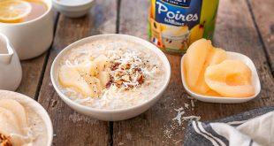 Le porridge aux poires coco
