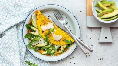 Photo de Omelettes à l'avocat, au Parmesan et aux herbes