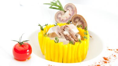 Photo de Timbale de macaronis à l'agneau comme un « Vol-au-vent »