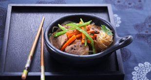 Wok de porc aux légumes, beurre de gingembre/coriandre