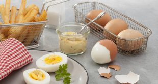 Les œufs durs mayo et frites dorées