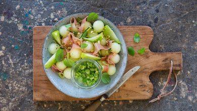 Photo de Salade de melon vert et Jambon cru Aoste