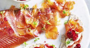 Saumon gravlax au gingembre et cerises de nos régions
