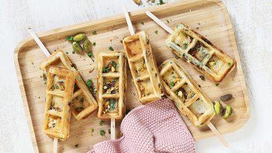 Photo de Gaufres en sucettes aux pistaches et tomates séchées