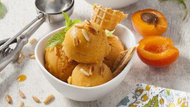 Photo de Sorbet aux abricots et aux pignons de pin