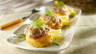 Photo de Croustillant de filet mignon sur lit de polenta