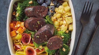 Photo de Salade bowl de boudin noir aux oignons
