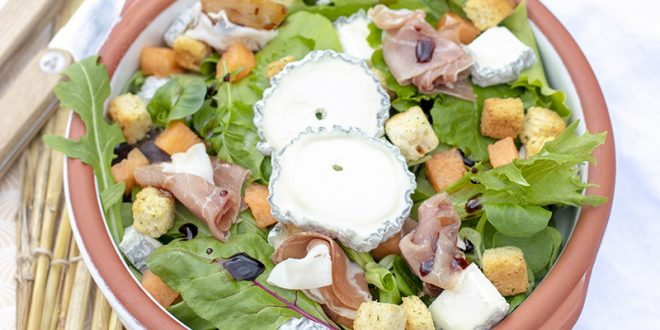 Salade fermière au Sainte-Maure-de-Touraine AOP