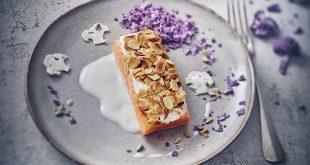 Truite aux amandes, St Môret® Léger et déclinaison de chou-fleur