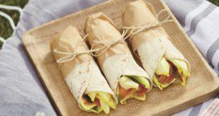 Wrap au saumon et Jeunes Pousses d'endives, sauce à l'aneth