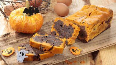Photo de Cake d'Halloween au potiron et chocolat noir