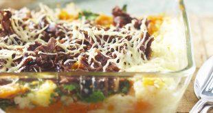 Gratin de bœuf aux légumes du pot-au-feu