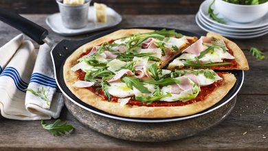 Photo de Pizza jambon & roquette à la Poêle