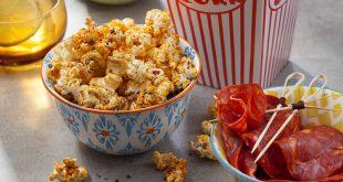 Popcorn à la poudre de tomate et de chorizo