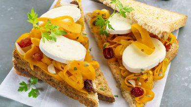 Photo de Sandwich oriental aux carottes, raisins et En Cas de Caprice