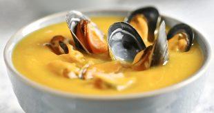 Soupe de Butternut aux Moules de bouchot de la Baie du Mont-Saint-Michel