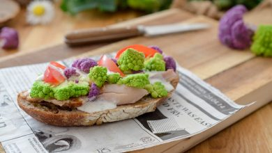 Photo de Tartine au chou romanesco façon Caesar