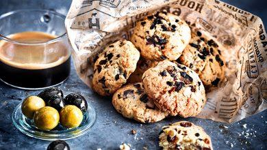 Photo de Cookies au chocolat et éclats d'olives vertes et noires