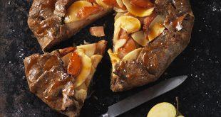 Tarte Rustique pommes, coings, caramel au beurre salé