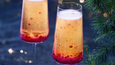 Photo de Cocktail de fêtes au Champagne & Framboises