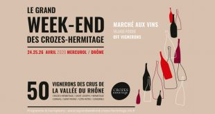 "Le Grand Week-end des ""Crozes-Hermitage"" du 24 au 26 avril 2020"