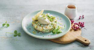 Tartare de daurade, blanc manger au riz basmati et noix de cajou