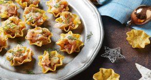 Tortilla Bowls au saumon & aux agrumes