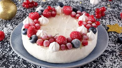 Photo de Vacherin au fromage blanc et aux fruits rouges les 300&Bio
