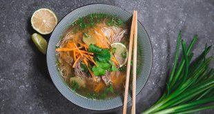 Bouillon d'asie bœuf et vermicelles