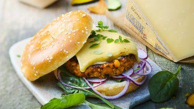 Photo de Burger de steak de pois chiche aux épinards frais au gruyère AOP Suisse