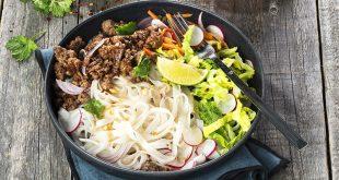 Nouilles de riz au bœuf croustillant