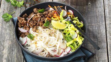 Photo de Nouilles de riz au bœuf croustillant