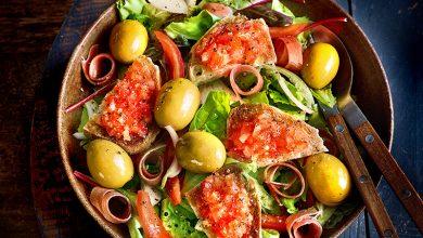 Photo de Salade pan con tomate aux olives Gordal