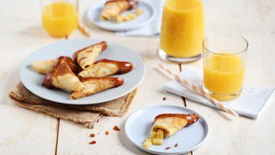 Photo de Samoussas de crêpes croustillantes aux poires et vanille