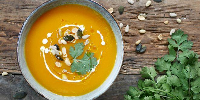 Soupe de patates douces aux graines Seeberger