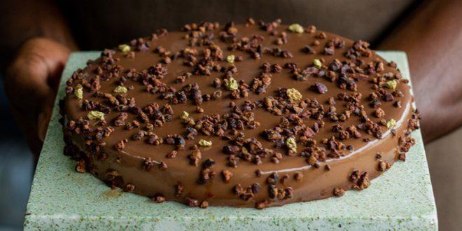 Tarte au chocolat et Grué caramélisé