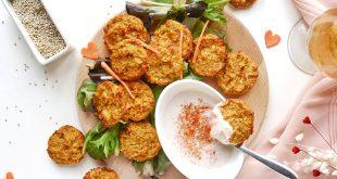Bouchées d'amour quinoa & patate douce, sauce épicée