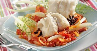Filets de merlan au fenouil et compotée de tomates