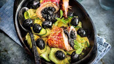 Photo de Filets de rougets à la tapenade d'olives noires Hojiblanca