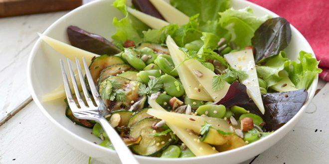 La Salade de Printemps à l'AOP Ossau-Iraty